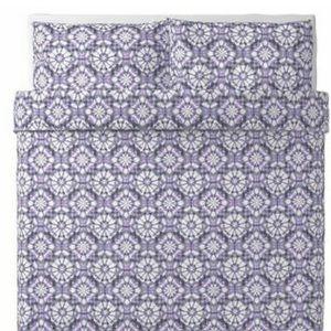 IKEA VATTENFRANE King Duvet Cover w/2 Pillow Cases